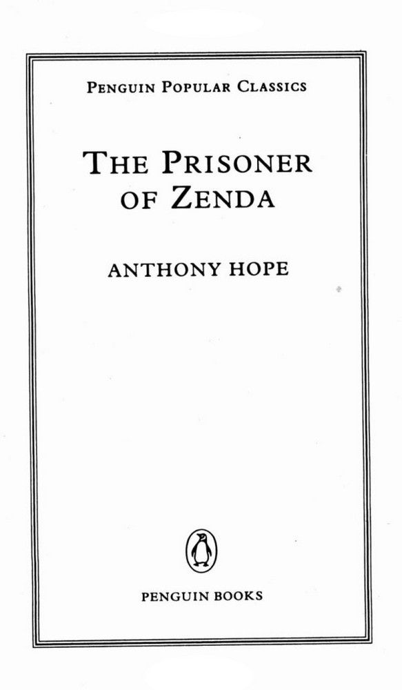 Prisoner of Zenda - Anthony Hope  (книга)