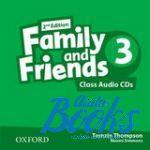 Jenny Quintana - Family and Friends 3, Second Edition: Class Audio CDs(3) (диск)