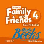 Jenny Quintana - Family and Friends 4, Second Edition: Class Audio CDs(3) (диск)