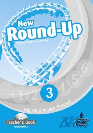 "книга + диск ""Round-Up 3 New Edition: Teacher's Book with Audio CD (книга для учителя)"" - Jenny Dooley, Virginia Evans"