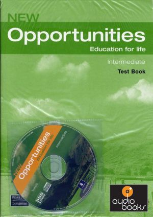 Книга диск new opportunities intermediate test cd pack