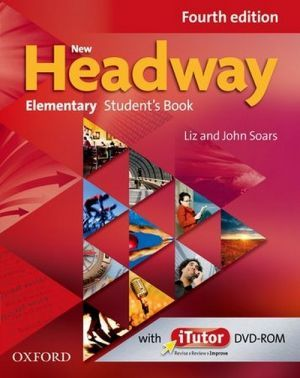 "книга + диск ""New Headway Elementary 4th Edition: Student's Book and iTutor DVD-ROM (учебник / підручник)"" - Liz Soars, John Soars"