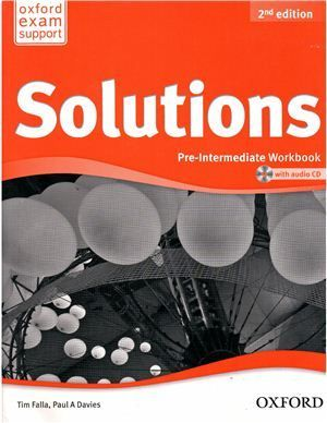 "Book + cd ""New Solutions Pre-Intermediate Second edition: Workbook and Audio CD (тетрадь / зошит)"" - Джейн Хадсон, Paul A. Davies, Tim Falla"