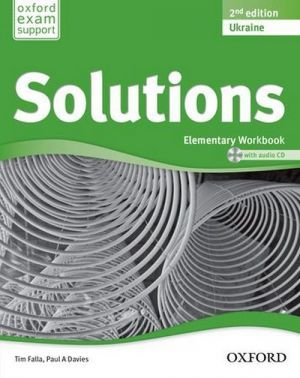 "книга + диск ""New Solutions Elementary Second edition: Workbook with CD-ROM (тетрадь / зошит)"" - Tim Falla, Paul A. Davies"